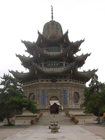 Mausoleum of Ma Laichi a Chinese Islamic theologian missionary and Sufi sheikh in Linxia City China