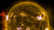 May rd  solar flare composite image cut and scaled
