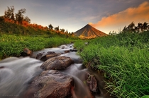 Mayon Volcano Albay in the Philippines  by Dacel Andes