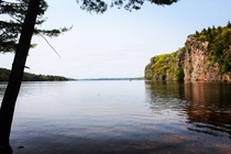 Mazinaw Rock from the shores of Bon Echo Ontario