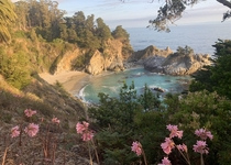 McWay Falls at golden hour One of many stops on a  mile trip