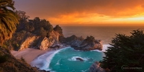Mcway Falls Big Sur CA Photo by Ryan Engstrom  xpost from rSeaPorn