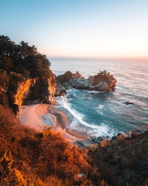 McWay Falls during Golden Hour Big Sur California