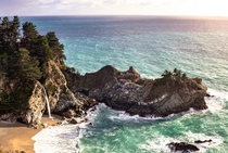 McWay Falls from the PCH Its a shame the path to better view the falls will be closed for the next year