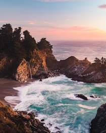 McWay Falls in Big Sur California - Last Sunset of   OC  cbyeva
