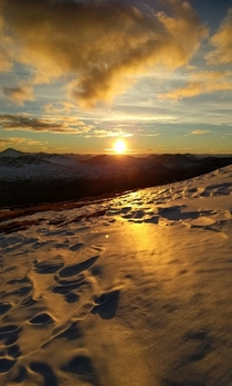 Meall Ghaordaidh Scotland - Sunset is still my favourite colour  OC