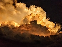 Mean Thunderhead Over Lincoln Nebraska
