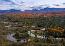 Meaning rivers and oxbow lakes Fall in the Adirondack Mountains NY