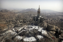 Mecca Saudi Arabia  - That tower is  feet tall