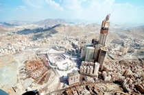 Mecca Saudi Arabia Worlds largest clock faces