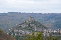 Medieval chateau and village of Najac France