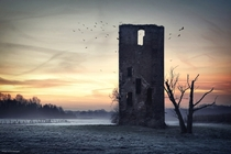 Medieval tower ruin near the German-Dutch border  Photo by Kilian Schnberger xpost from rGermanyPics