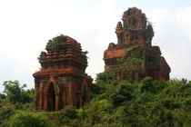 Medieval towers of the Champa kingdom in central Vietnam