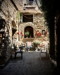Medieval village of Mesta in Chios Greece
