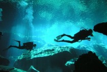 Mediocre quality but this is me tooling around a cenote near Playa del Carmen Mexico