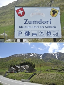 Meet Zumdorf the smallest village in Switzerland Yep Thats it The entire village
