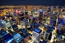 Melbourne at Night  By Yury Prokopenko  x-post rAustraliaPics