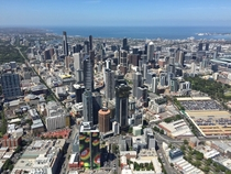 Melbourne Australia from a blimp