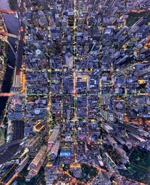 Melbourne Australia from above