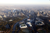 Melbourne Australia from hot air balloon