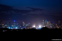 Melbourne Australia skyline at dusk