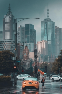Melbourne during todays storm