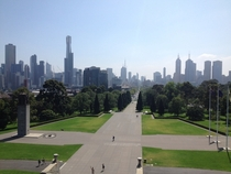 Melbourne from the Shrine