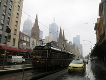 Melbourne on a dreary winter morning