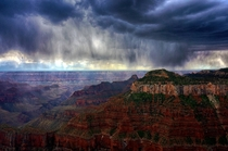 Menacing storm over the Grand Canyon