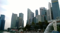 Merlion and skyline of Singapore