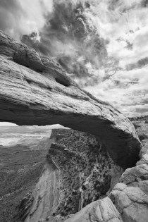 Mesa Arch in BampW Canyonlands National Park UT