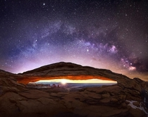 Mesa Arch Milky Way Sunrise  - Check Comments For Description
