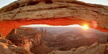 Mesa Arch Sunrise CanyonLands NP Utah  I posted this earlier but got taken down because there were people in the pic so cropped and reposted it