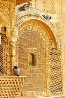 Mesmerizing golden hue of the golden city of India  Jaisalmer Rajasthan