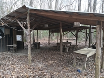 Mess Hall in abandoned military base in seagrove NC