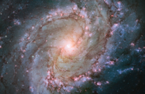 Messier  a intermediate spiral galaxy with a double nucleus  million light-years away practically in our backyard image credit ESANASA Hubble