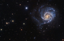 Messier  also known as The Pinwheel Galaxy is  light years across about twice the size of our own galaxy and also believed to contain at least a trillion stars Image credit Laszlo Bagi
