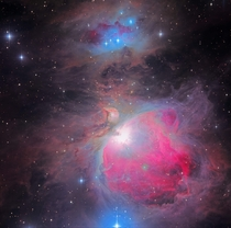 Messier M The Great Orion Nebula in hrs