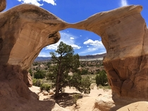 Metate Arch nearly ready to become two Hoodoos at Devils Garden Grand Staircase-Escalante National Monument