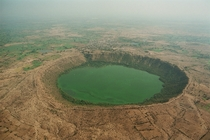 Meteor impact crater at Lonar Maharashtra India -