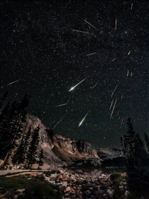 Meteor Shower Over Wyoming Sky