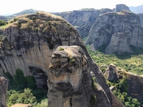 Meteora Greece - Insane underwater-like landscape amidst the mountains  OC