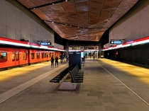 Metro station Aalto Yliopisto - Aalto University in the Greater-Helsinki region Finland