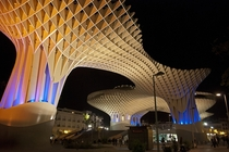 Metropol Parasol is a wooden structure located at La Encarnacin square in the old quarter of Seville Spain It was designed by the German architect Jrgen Mayer-Hermann and completed in April