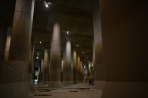 Metropolitan Area Outer Underground Discharge Channel Kasukabe JP - the worlds largest underground flood water diversion facility built to mitigate overflowing of the citys major waterways and rivers during rain and typhoon seasons