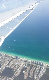 Miami Beach FL from above