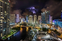 Miami FL during thunderstorm