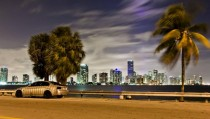 Miami lovely night cityscapes