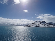 Mid-day on King George Island Antartica