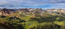 Mid morning on the flank of Engineer Pass San Juan Mountains Colorado